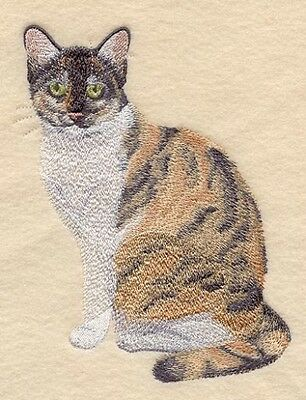Large Embroidered Zippered Tote - Tortoiseshell Cat C7959