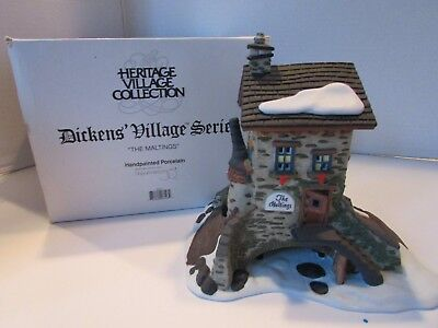 Dept 56  58335 The Maltings Lighted Bldg 0/027 Scale Lighted Building In Sleeve