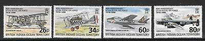 British Indian Ocean Terr Sg215/8 1998 Royal Air Force   Mnh