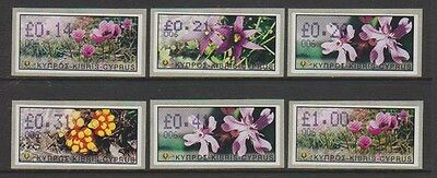Cyprus - 2002 Vending Machine Labels (Flowers) - Self Adhesive - Code 006 - MNH
