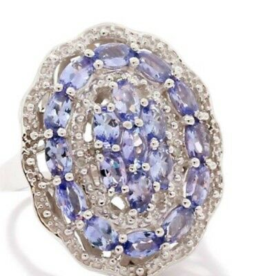 AA Tanzanite  Ring Size L A limited Edition Design Set In 9.25 Sterling Silver