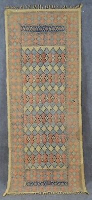 printed paisley hand made cotton 17 x 45 table runner  hang vintage
