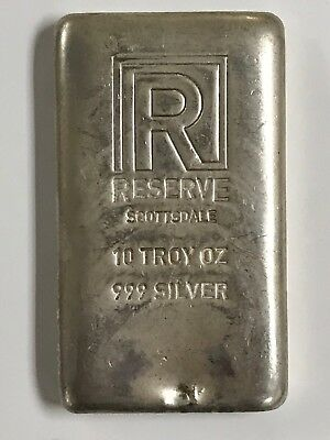 10 Oz .999 Silver Poured Bar Scottsdale Reserve