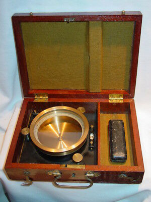 C1870 E. S. Ritchie & Sons Boston Boxed Table Compass High Quality