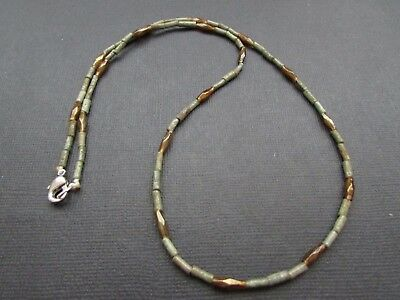 NILE  Ancient Egyptian Glass  Amulet Mummy Bead Necklacec ca 1000 BC