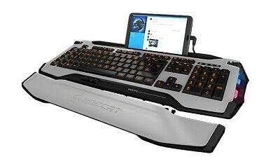 ROCCAT Skeltr White Gaming Keyboard Tastatur Keypad Console Docking-Slot - DE