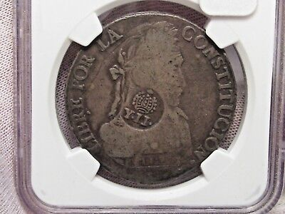 COUNERTSTAMP: 100 Philippine 8R T6C/S on Bolivia 8S. 1834PTS LM. NGC FINE Detail