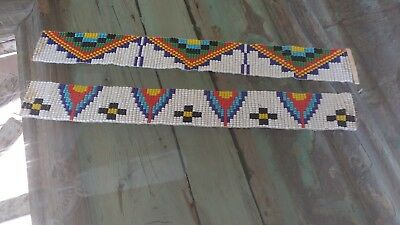 "Pair of Vintage Native American 10"" beading pieces"