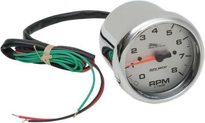 """Auto Meter 8000 RPM Tachometer 3-3/8"""" Standard Tach with Silver Face"""