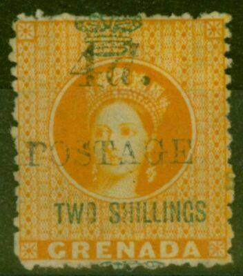 Grenada 1888 4d on 2s Orange SG41 Fine & Fresh Mtd Mint