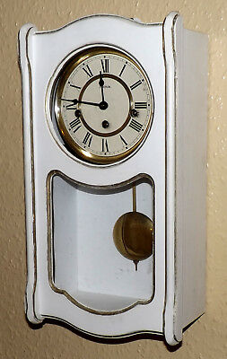 Hermle 341-021 Westminster Chime Wall Clock - White Case - Fully Working