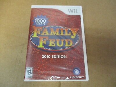 Family Feud 2010 Edition Includes Nintendo Wii Brand New Sealed Fast Shipping