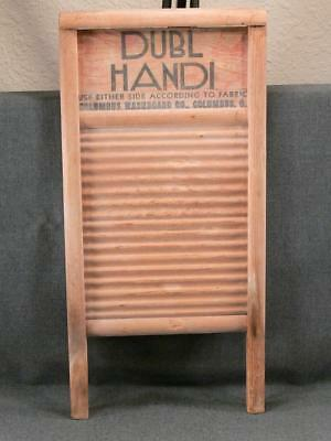 Rare V Dubl Handi #2133W  All Wood Washboard World War Ii Rare For War Effort