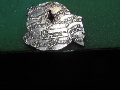 RARE Planet Hollywood SAU PAULO Logo Pin SILVER Made in ARGENTINA