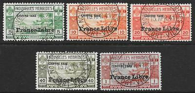 New Hebrides (French) 1941 Postage Dues Set (Fine Used)