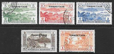 New Hebrides (French) 1957 Postage Dues Set (Fine Used)