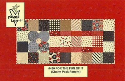 Pieces from my Heart - For the Fun of it Pattern - a Charm Pack FREE US SHIPPING