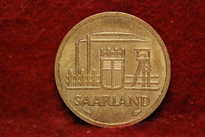 Saarland, 1954 10 Franken, AU, Or Best Offer, Reduced,                       2cl