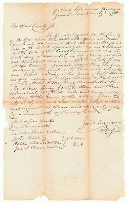 1798 Inquest for Theft, Signed by Jared Ingersoll, Signer U.S. Constitution