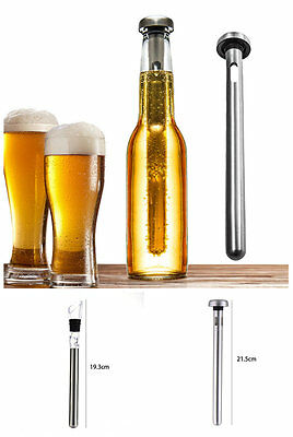 21.5cm Stainless Steel Beer Cooler Ice Stick Ice Gel Wine Aerator Wine Pourer