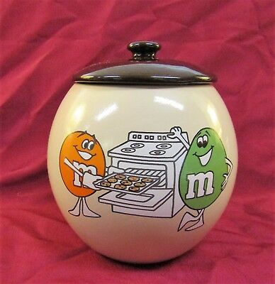 Vintage 1982 Mars INC M&M'S Cookie Jar Old Syle Characters EX Condition