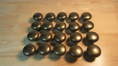Lot of 20 Antique Brass Colored Metal Knobs Pulls Door Drawer