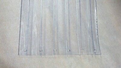 """RIBBED DOOR STRIP   PERFORATED     12"""" x 9 ft x 110 mil  CLEAR PVC VINYL"""