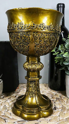 Arthurian Merlin's Holy Grail The Golden Cup Of Life Chalice Ceremonial Cup