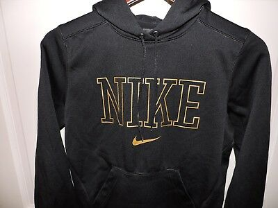 NIKE THERMA-FIT Boys Soft Polyester SPELLOUT Hoodie Black Size Medium
