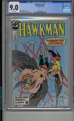 Hawkman #1 Cgc 9.0 White Pages Hawkgirl
