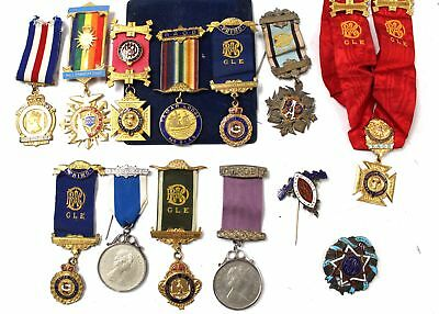 Collection of Various VINTAGE MEDALS 1960-1980s 2000 millenium from RAOB - C56