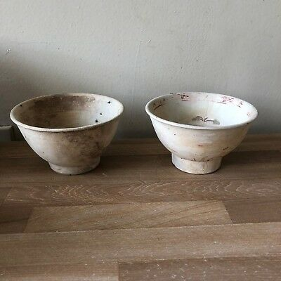 2 Lovely Hoi An Hoard Bowls Vietnamese Indo Chinese 15th/16th c. #108469,114989