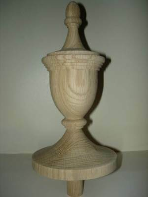 WOOD FINIAL UNFINISHED FOR NEWEL POST FINIAL OR CAP  Finial #42