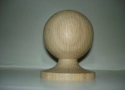 WOOD FINIAL UNFINISHED FOR  NEWEL POST FINIAL OR CAP  Finial #59
