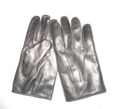 COACH Men's Basic Nappa Cashmere Lined Leather Gloves BLACK NWT 82863 medium M