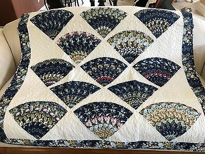 Machine quilted machine pieced and machine quilted lap quilt #NJ-70