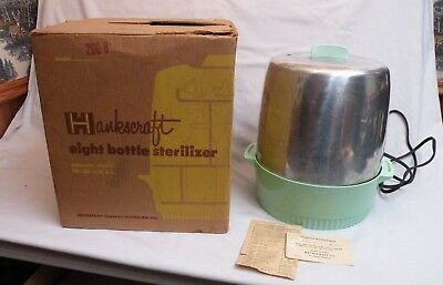 Vintage HANKSCRAFT BABY BOTTLE STERILIZER w/ Box  made in Wisconsin USA