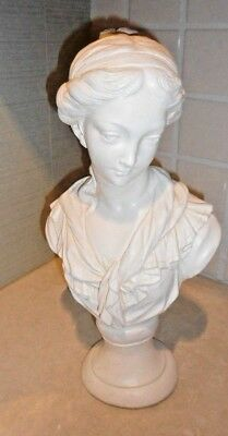"""White Bust Victorian Lady 16"""""""