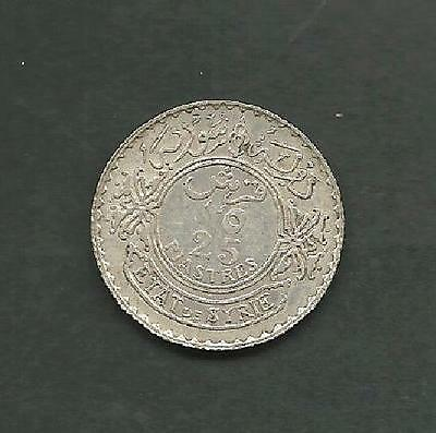 "Syria 1929 Silver 25 Piasters ""scarce""  ""xf"" #3972  Low Price & Free Usa Ship"
