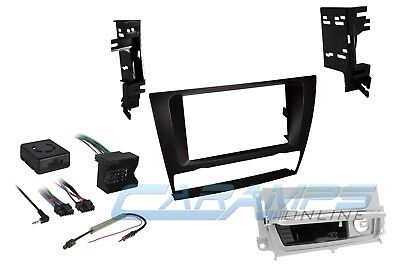 BMW E90 E92 CAR STEREO RADIO DASH INSTALL TRIM KIT W WIRING /& HEATED SEAT PANEL