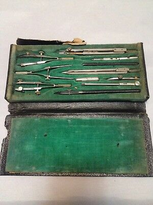 Antique Post's Drafting Set Made In Germany Vintage Architect Tools