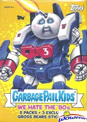 2018 Topps Garbage Pail Kids Series 1 WE HATE THE '80's EXCLUSIVE Blaster Box !