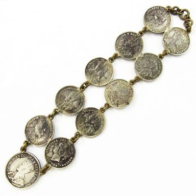 Canadian Sterling Silver Coin Jewelry - Bracelet or Large Pendant - Pre 1920