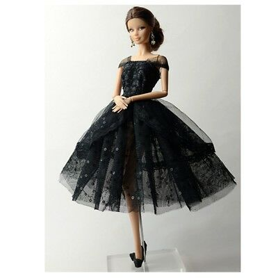 Doll Clothes for Barbie Party Sequin Tulle Gown Dress Skirt Outfit Tops Accs