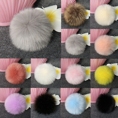 1PC DIY Faux Fox Fur Fluffy Pompom Ball for Knitting Hat Hats