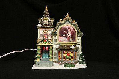 Norman Rockwell - Freedom From Fear - Porcelain Lighted House Christmas Display