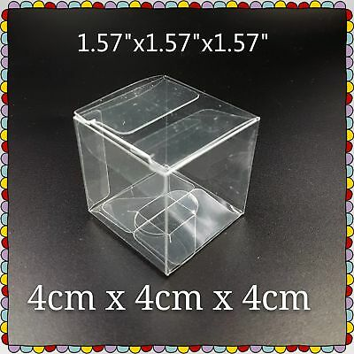 500 Pieces Wedding Gift Favour Box Party Baby Shower Clear Plastic Boxes 4x4x4cm