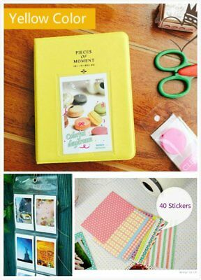 Bundle Yellow 3 in 1 Fujifilm Instax Instant Film Camera Album 40 Sticker