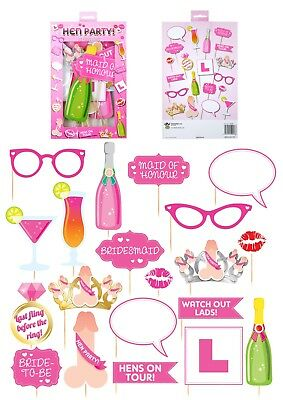 Hen Party Photo Booth Selfie Props Fancy Dress Accessory Set