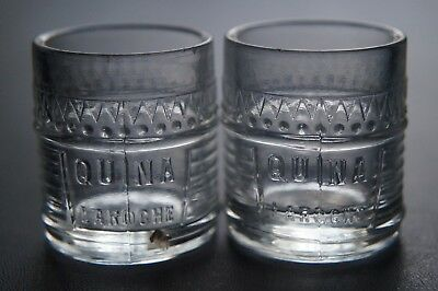 Antique Victorian Era Pair Of Dump Dug Quina Laroche Dose Cups New York
